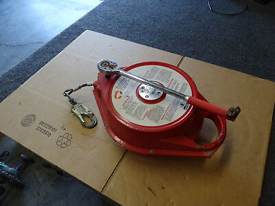 Miller 58-100g Ratcheting Retractable 100 Galvinized Lifeline Safety Free Ship