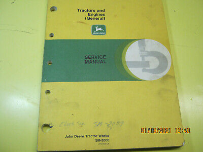 John Deere Tractors Engines Service Manual Sm2000 Abghm5060