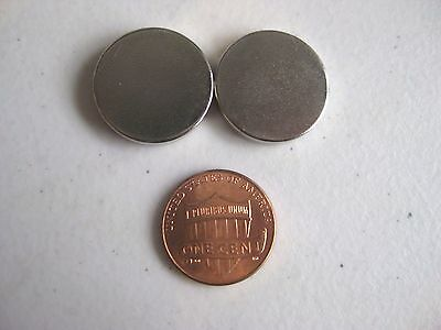 2 Neodymium Magnets 20mm X 3mm Large Disc N52 New Super Strong Usa Seller