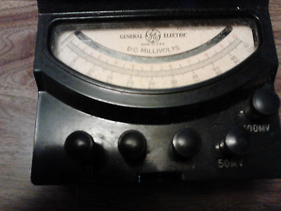 Ge General Electric Dc Millivolt Meter Type 8dp9vea1 10-100millivolts With Case