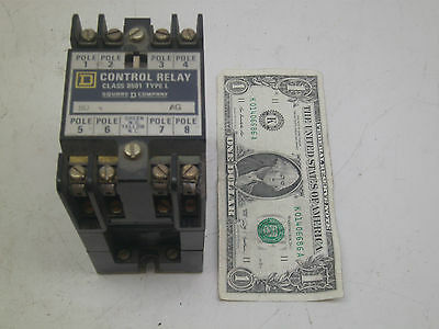 Square D Control Relay 8502 L0-80 Series A Ag Used W Small Chip See Photos