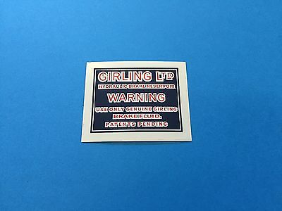 VINTAGE GIRLING SHOCK STICKER Motors Motorcycle Parts