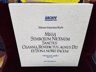 KARL RICHTER BACH B MINOR MISSA BWV 232 1st LABEL MESSE ARCHIV 198 190/192