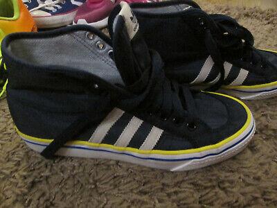 Adidas Nizza Hi Top blue and Yellow  UK Size 7.5