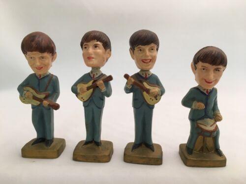 Vintage Beatles Cake Toppers Bobblehead Nodder Figures