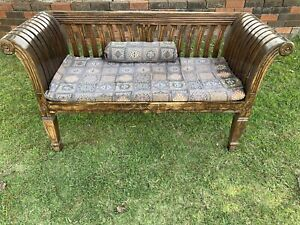 Decorative solid timber outdoor bench seat bench chair Carlisle Victoria Park Area Preview
