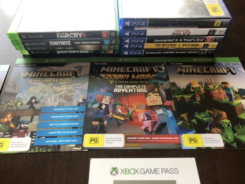 PS4 and Xbox One games and codes  Prices in description