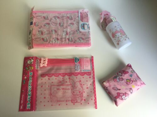SANRIO - MY MELODY LOT SPRAY BOTTLE, STORAGE BOX, BAGS, REUSABLE TOTE NEW