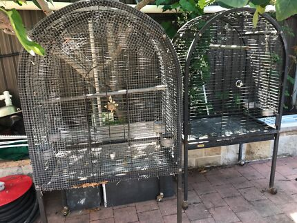 3 large bird cages