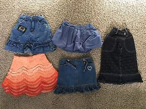 Girls Skirts Lot – 5 pieces - Size 3 / 4 fits size 4 / 5