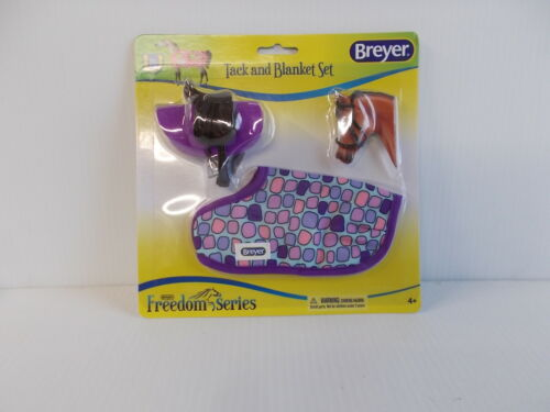 Breyer Horses Classic Size English Tack and Blanket Set Pink & Purple