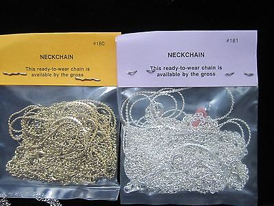"""120 SILVER PLATED AND GOLD PLATED CHAIN - 16"""" - 24""""  NECK CHAINS"""