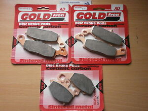 GOLDFREN FRONT & REAR BRAKE PADS For: KAWASAKI ER6F (2006-2013) ER6N