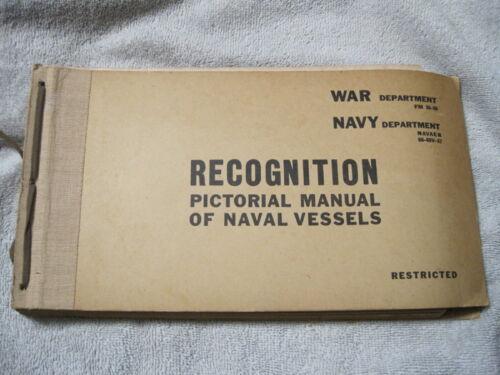 Original 1944 WW2 Naval Vessels Recognition Manual