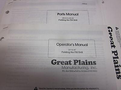 Great Plains 12 End Wheel No Till Drill Operators Parts Manual