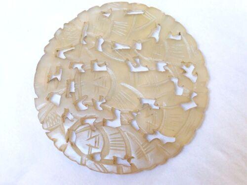Antique / Vintage Chinese Carved Natural Jade Pendant