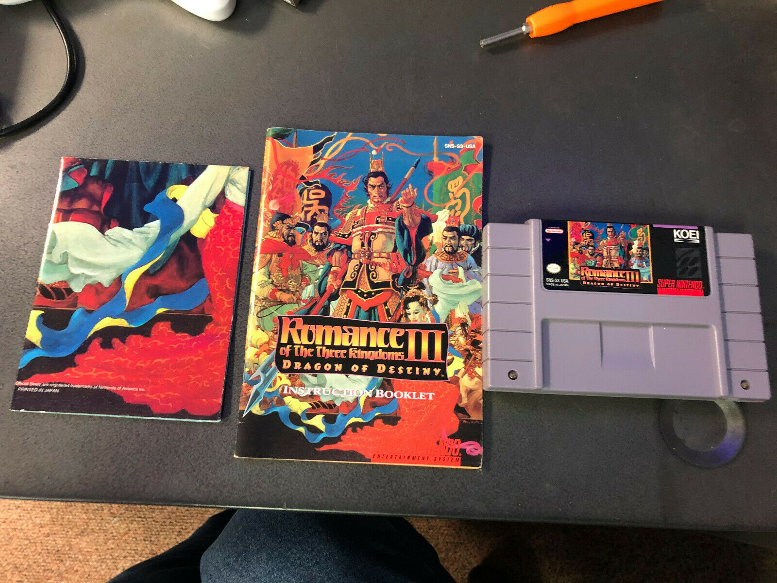 Romance Of The Three Kingdoms III Dragon Of Destiny Super Nintendo SNES, 1994  - $53.00