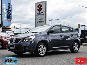 2009 Pontiac Vibe AWD ~Only 75,000 KM ~Power Moonroof ~Fog Lamps