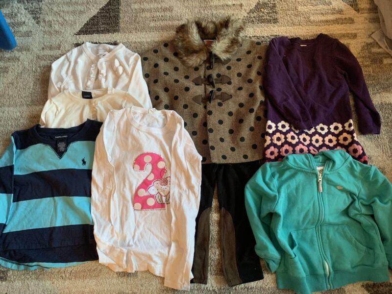 Lot Of Girls Cloths Size 2 & 2t Ralph Lauren, Carter
