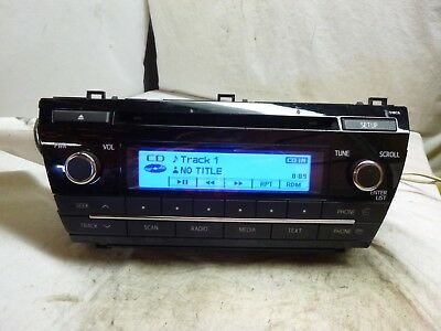 14 15 16 17 Toyota Corolla Radio Cd Mp3 Player 86120 02F60 518C6 Abc22