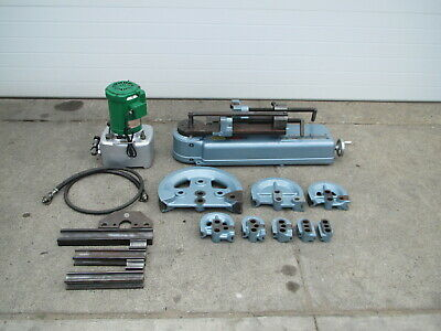Parker 632 Hydraulic Power Tubing Bender W 8 Radius Blocks Tooling Pump Used