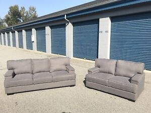 Brand new grey fabric sofa and love seat set