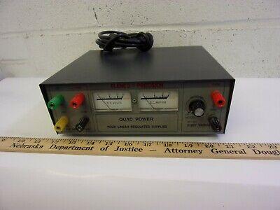 Bench Power Supply Elenco Precision Xp-581 Quad Power Four Linear Regulated