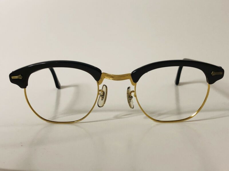 Vintage  Shuron 5 1/2 USA Brown NOS American Optical JKF Style Eyeglasses 5024