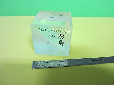 Optical Large Beam Splitter Cube Mil Spec Laser Optics Bine5-08