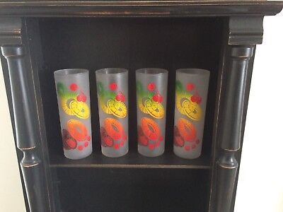 4 Federal Glass Zombie Fruit Tom Collins Glasses