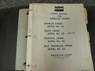 American Model 5520 Truck Mounted Lattice Boom Crane Parts Catalog Manual