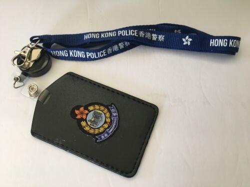 Neckstrap #1D - Hong Kong Police Neckstrap & vertical cardholder w/badge