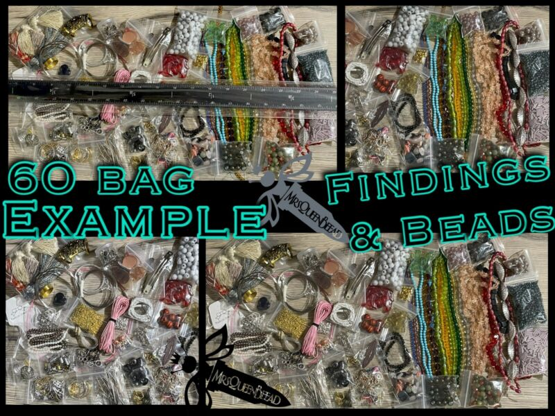 60 bags HUGE MIX Jewelry DIY LOT 👑🐝 MrsQueenBeead 👑🐝 Beads & Findings