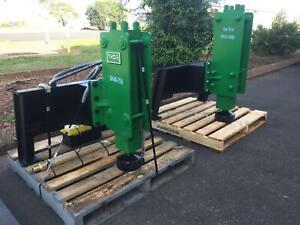 Skid steer loader Hydraulic post driver