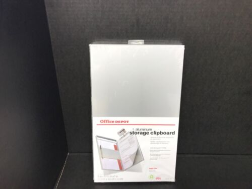 OFFICE DEPOT ALUMINUM STORAGE CLIPBOARD LEGAL SIZE NEW MADE IN USA