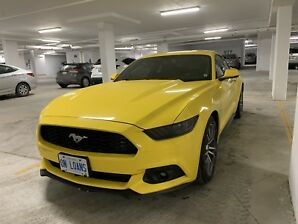 2016 Yellow Ford Mustang Ecoboost Premium