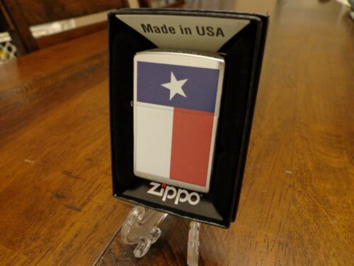 TEXAS STATE FLAG SERIES ZIPPO LIGHTER MINT IN BOX
