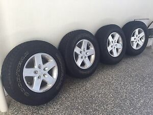 Jeep Wrangler Unlimited Sport Wheels & Tyres Merrimac Gold Coast City Preview