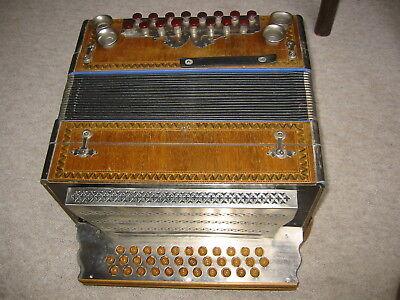 Schöne alte  Steirische (?) Harmonika 3 Reihen, 16 Bass
