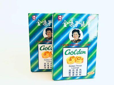 (2packs) Golden Throat Lozenge Cough Drops 金嗓子 US Seller! Free Shipping!