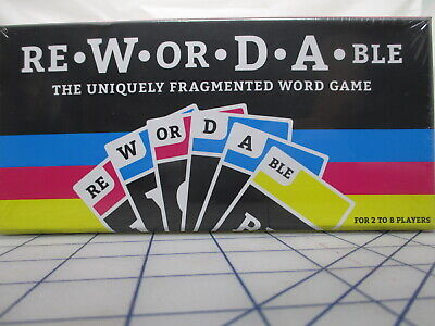 Rewordable The Uniquely Fragmented Word Game by Allison Parrish Free Ship NEW