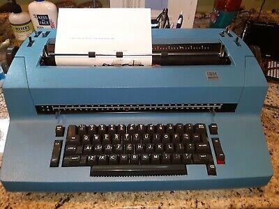 Ibm Correcting Selectric Ii 2 Electric Typewriter Blue Works But Needs Work