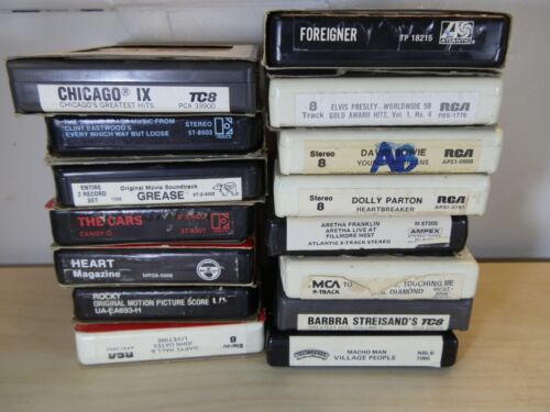 8 Track Tape Lot of 15 Good Condition