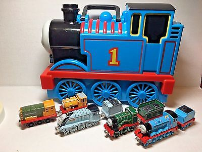 Thomas The Tank Engine & Friends Carry Case & 8 Die Cast Metal Trains / Cars