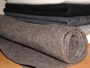 100% wool felt 1mm thick per metre sheet 90cm wide natural melange colours