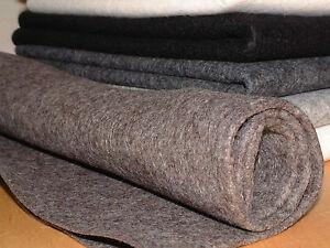 100% wool felt 1mm thick per metre sheet 90cm wide natural melange colours
