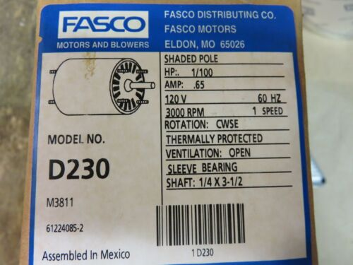 Fasco | Electric Motors | Surplus Industrial Equipment