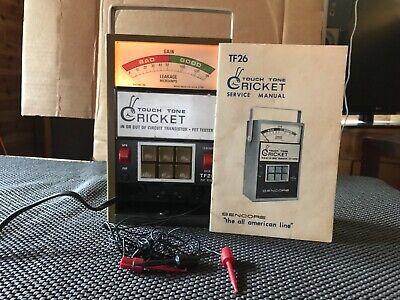 Sencore Touch Tone Cricket Tf26 Fet Tester W Service Manual