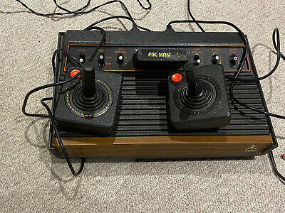 Vintage ATARI Woody CX 2600 ORIGINAL CONSOLE And Games Bundle