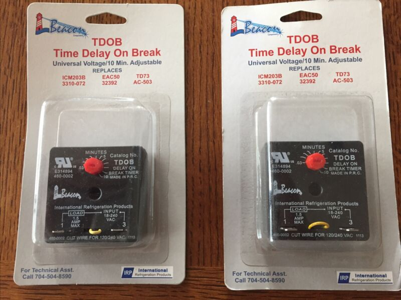 Beacon TDOB Time Delay On Break 10 Min- Brand New. Qty 2. Part No. 460-0002